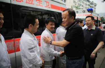 夏永鹏、刘克佳等局领导看望我院应急医学救援队员
